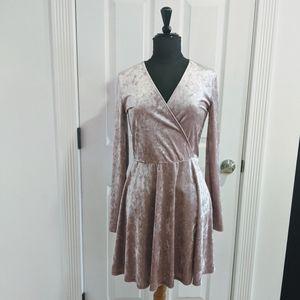 Forever 21 Mauve Velvet Skater Dress
